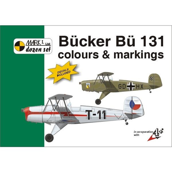 Bucker Bu 131 colour and markings book with 1:48 decal sheet