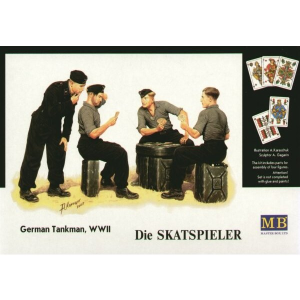 WWII German tank crew playing cards Die Skatspieler