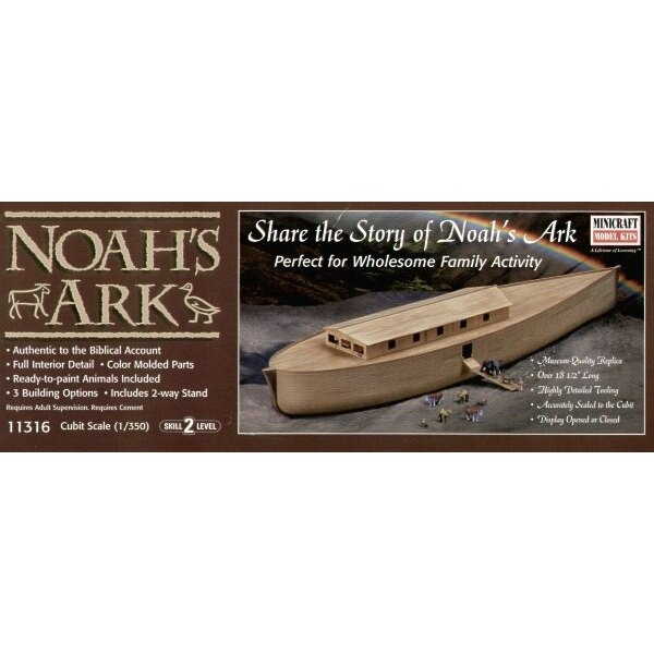 Noah′s Ark with Noah figure and animals