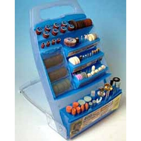 400 various mini accessories for use with all Mini Rotary Modelling tools. Shaft diameters up to 3.2mm. Includes accessory listi