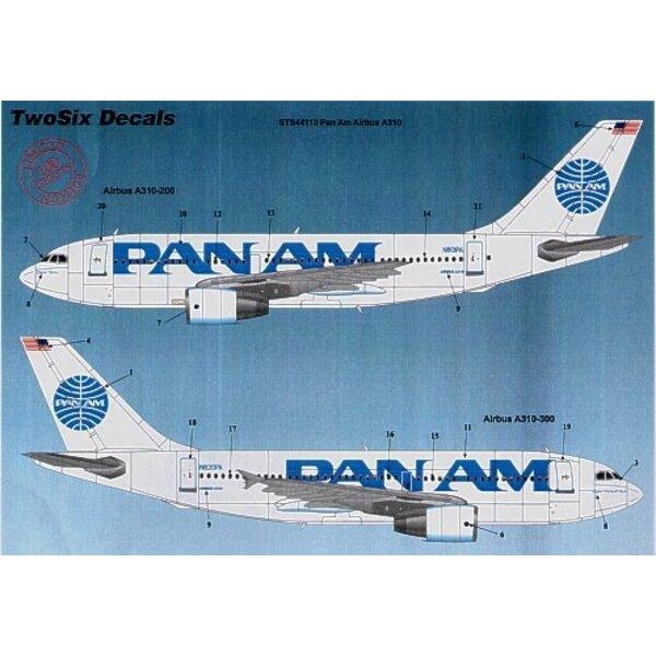 Airbus A310 PAN AM Billboard 10 Registrations N801PA etc