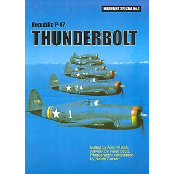 Libro Republic P-47D Thunderbolt 92 pages 365 plan/side views in colour 80+ pictures (Hall Park Books Limited)