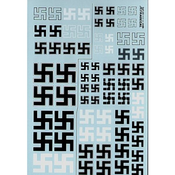 Luftwaffe Swastikas. Various styles including solid and outline. Sizes 300mm 430mm 540mm 650mm Also includes 1:24 Swastikas 300m