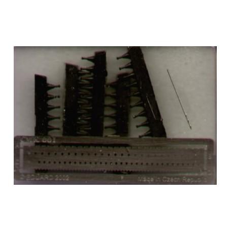 Hexagonal bolt heads 08mm x 44 pieces