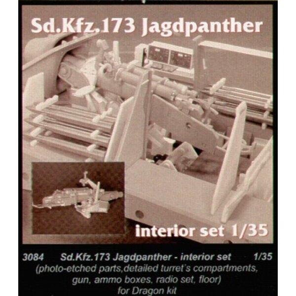 Jagdpanther interior (diseñado para ser ensamblado con maquetas de Dragon)