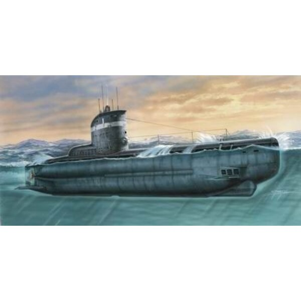 U-Boat Type XXIII. Injection moulded with resin and photoetched parts (submarines)