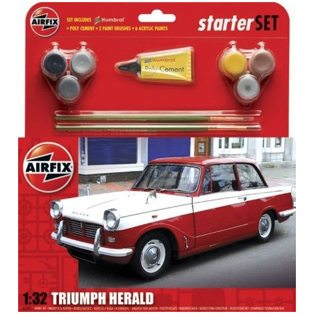 Triumph Herald Starter Set includes Acrylic paints brushes and glue