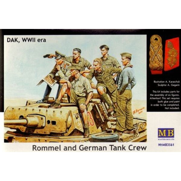 Rommel and German Tank Crew, DAK WWII era
