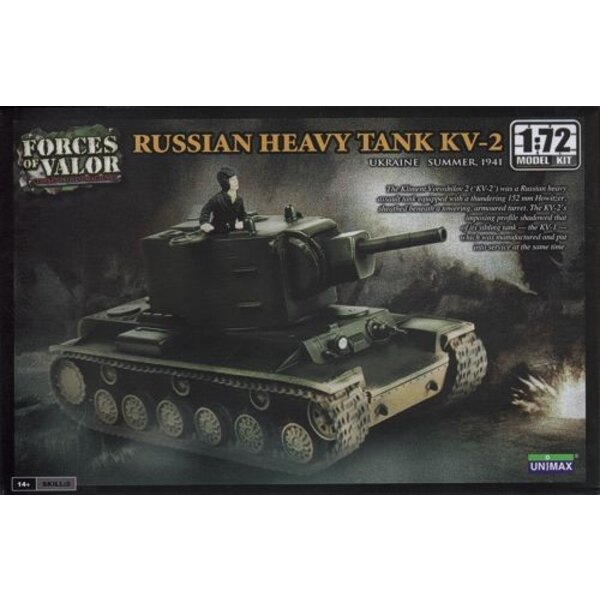 KV-2 Heavy tank - WARNING : this is a model kit and NOT a ready built miniature