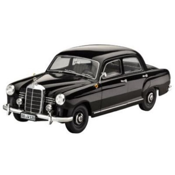 Mercedes 180D Ponton Black 1:18