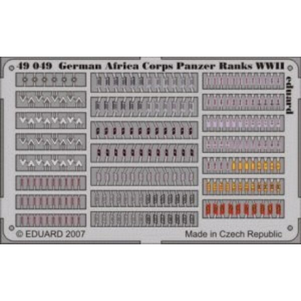 Afrika Korps Panzer Ranks WWII PRE-PAINTED IN COLOUR!