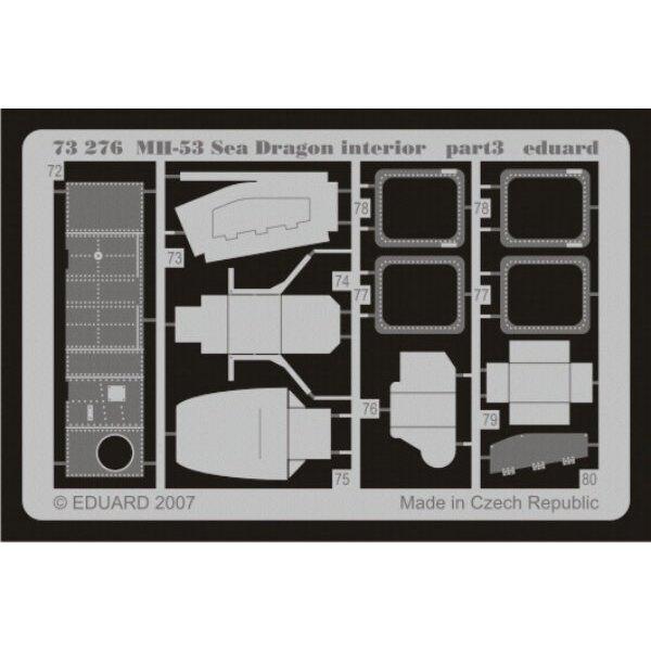 Sikorsky MH-53E Sea Dragon interior PRE-PAINTED IN COLOUR! (diseñado para ser ensamblado con maquetas de Italeri)