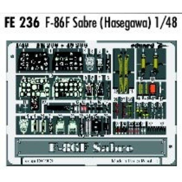 North American F-86F Sabre PRE-PAINTED IN COLOUR! (diseñado para ser ensamblado con maquetas de Hasegawa) This Zoom set is a sim