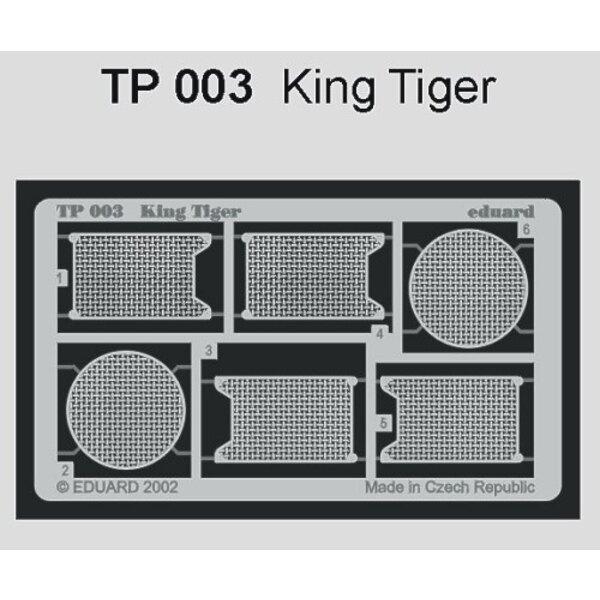 King Tiger grills (diseñado para ser ensamblado con maquetas de Tamiya)