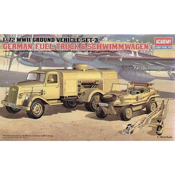 WWII German Fuel Truck & Schwimwagen
