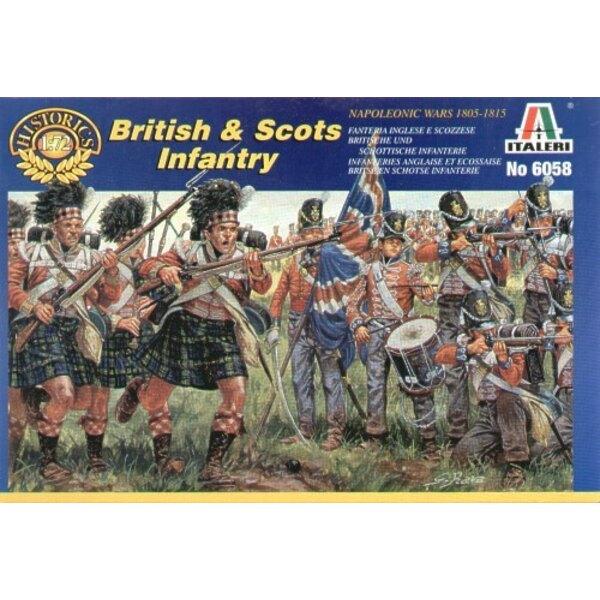 Guerras napoleónicas: Infantería escocesa y británica