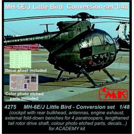 MH-6E/MH-6J Little Bird Conversion set (designed to be used with Academy kits) USA, modern