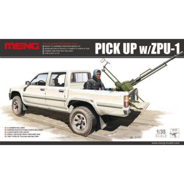 Dual Cab Toyota Hi-Lux Pick Up truck with ZPU1 anti-aircraft gun