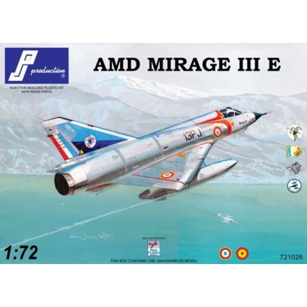 Mirage IIIE (4 decals options for French and Spain versions; INJECTION MOULDED with resin and PE parts)