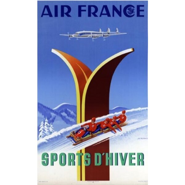 Air France - Sports d'Hiver - A.Kow 1951