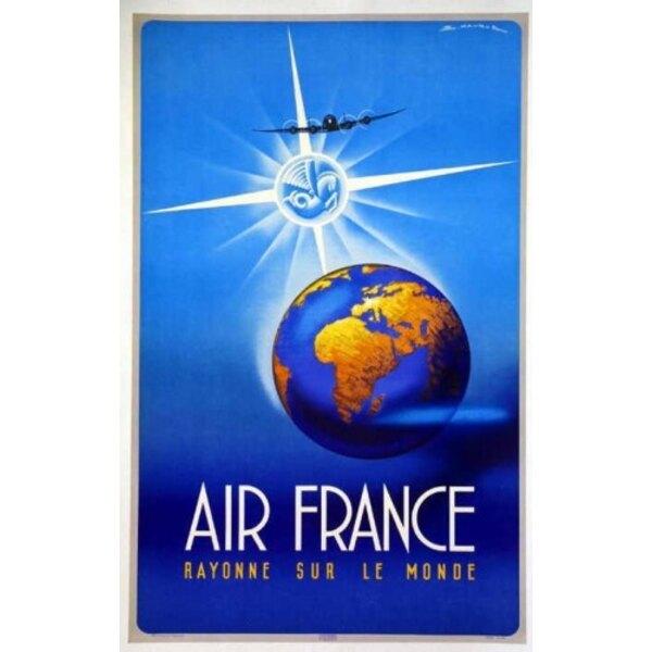 Air France - Rayonne sur le Monde - Maurus 1948