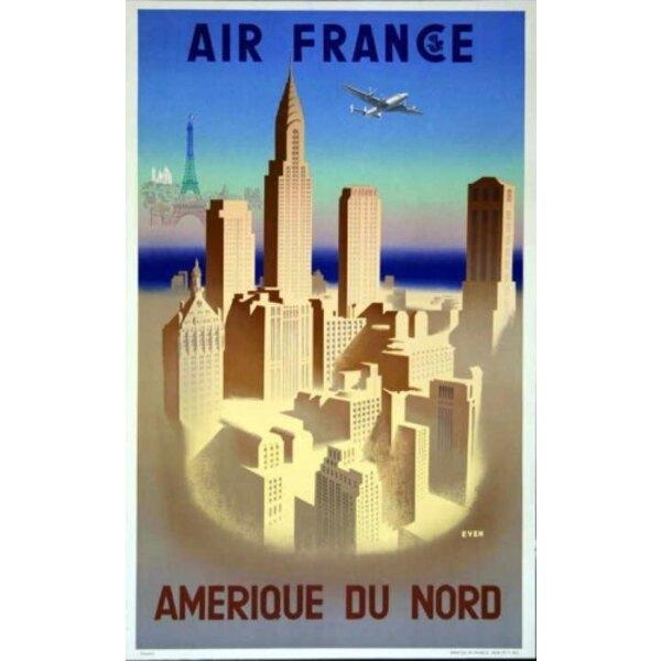Air France - Amérique du Nord - J.Even 1950