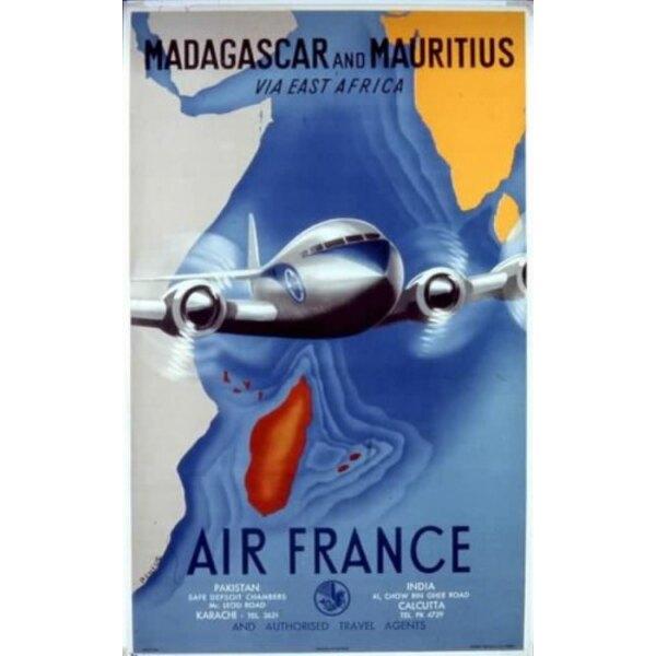 Air France - Madagascar and Mauritius- Renluc 1950