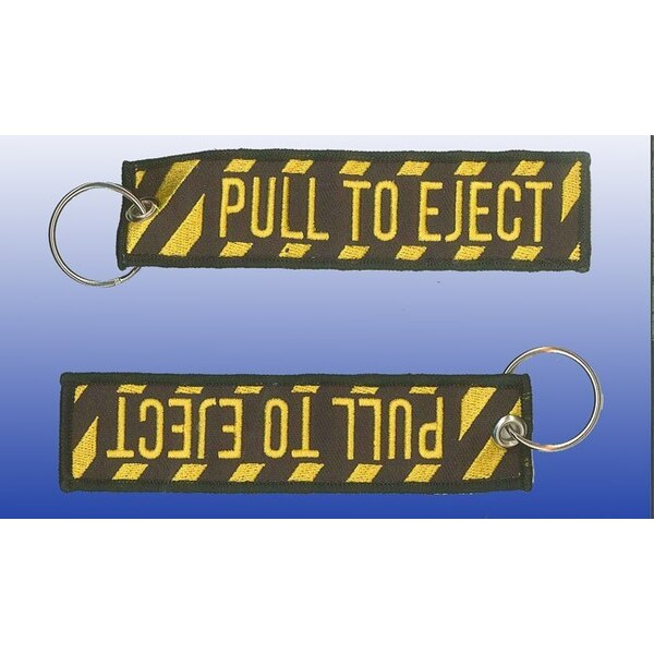 "Porte-clef ""Pull to Eject"" 130*30mm"
