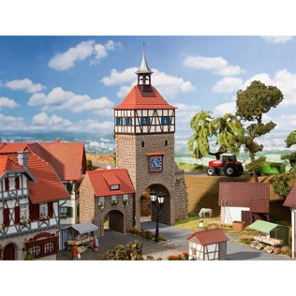 City gate with gatehouse