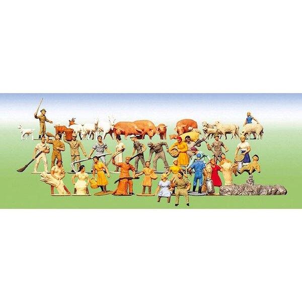Set of figures Farm, 36 pieces