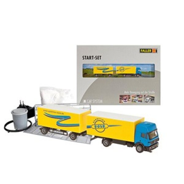 Car System Start-Set Trailer truck