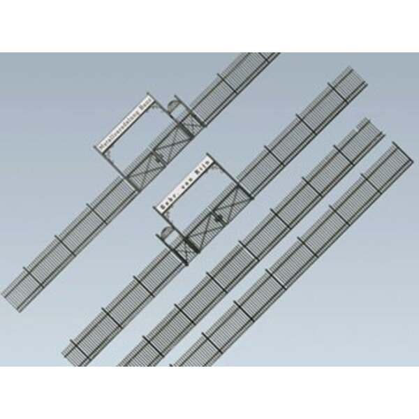 Iron fence with gate, 1046 mm