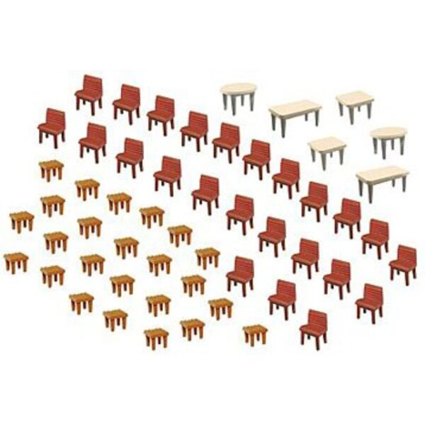 7 Tables and 48 Chairs