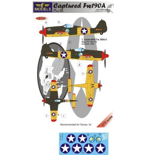 Captured Fw190A - Part III (designed to be used with Tamiya kits)