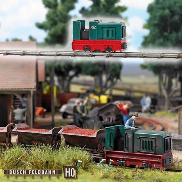 Locomotora de vía estrecha cabina abierta