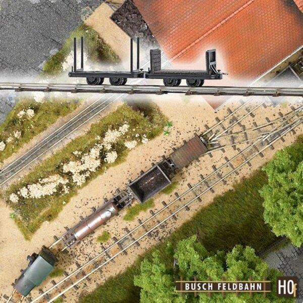 Coche de estaca y tramos de vagones
