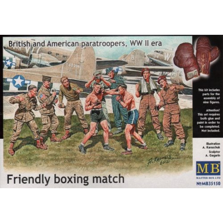British and American Paratroopers 'Friendly Boxing Match'