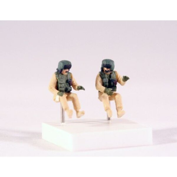 Set of 2 Boeing AH-64 Apache crew [Hughes AH-64A Longbow Apache AH-64D] (designed to be used with Hasegawa and Italeri kits)