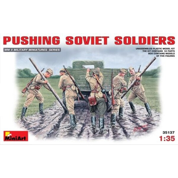 Soviet Soldiers (WWII) Pushing