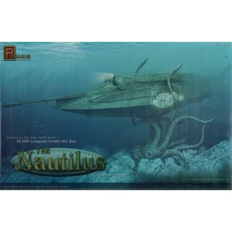 Submarino Nautilus de Julio Verne novela clásica, 20.000 leguas de viaje submarino