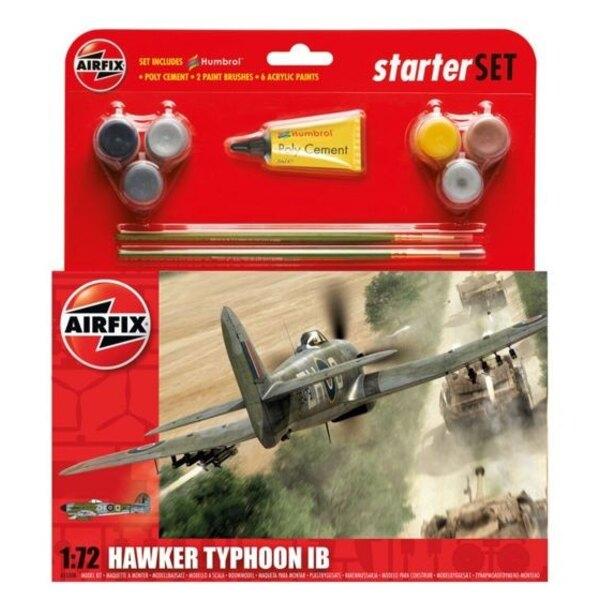Hawker Typhoon Starter Set incluye pinturas acrílicas, pinceles y cemento poli