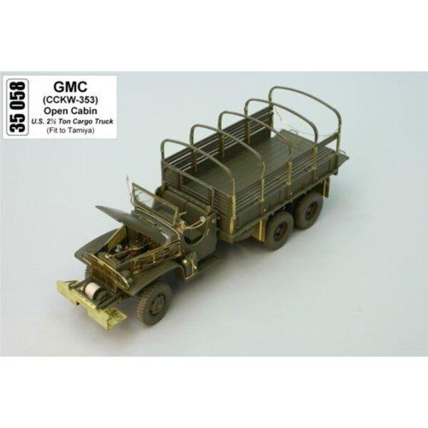 GMC open canopy (diseñado para ser ensamblado con maquetas de Tamiya)