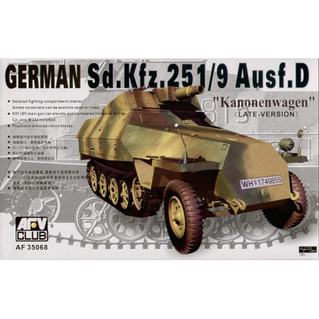 Sd.Kfz.251 D/9 Half Track with 75mm Gun