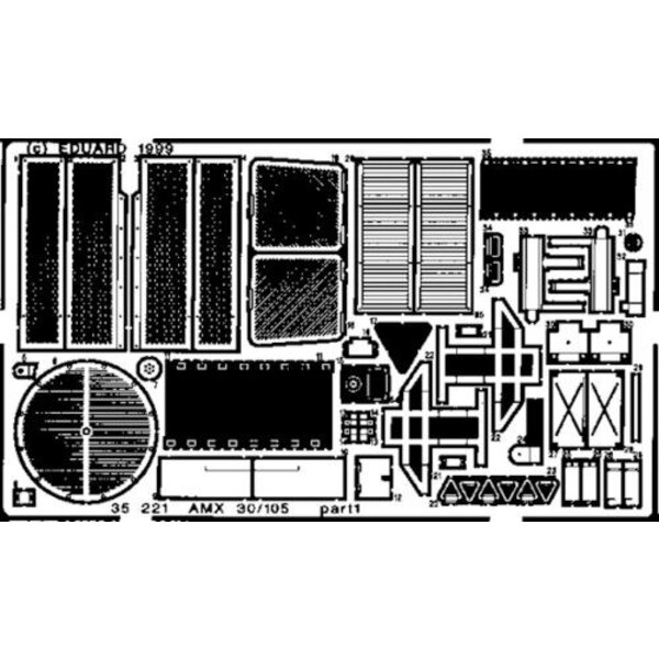 AMX-30/105 (diseñado para ser ensamblado con maquetas de Heller)