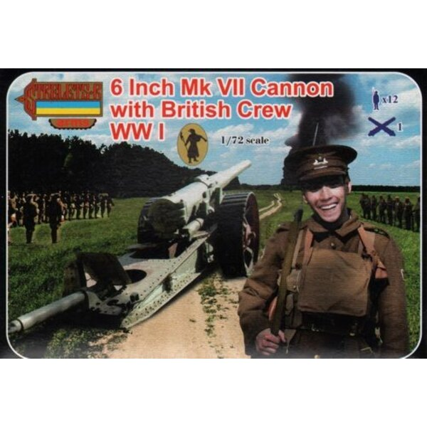 8 Inch Mk.VII Cannon with British Crew (WWI) Strelets Arms sets