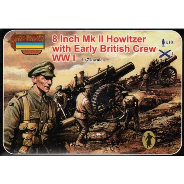 8 Inch Mk.II Howitzer with British Crew (WWI) Strelets Arms sets