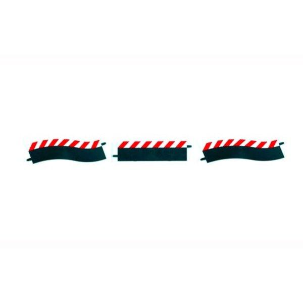 Las fronteras exteriores de Pit Stop Lane ( hombro recto / arriba / abajo, dos piezas finales. )