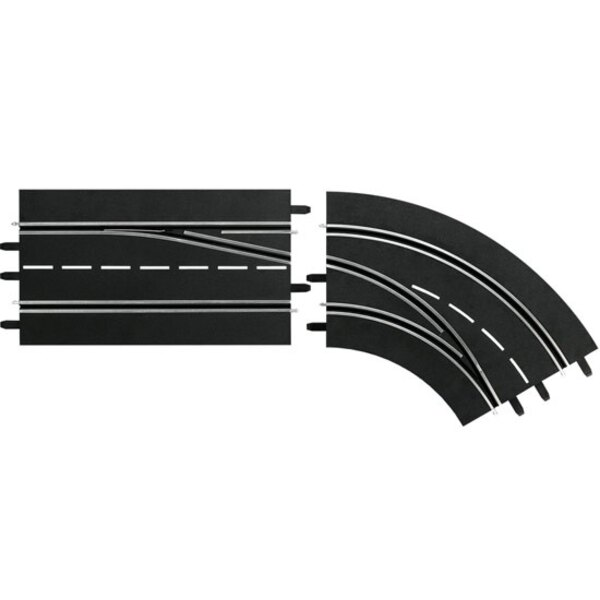 Cambio de carril curva recta, al aire libre - > De interior y 132