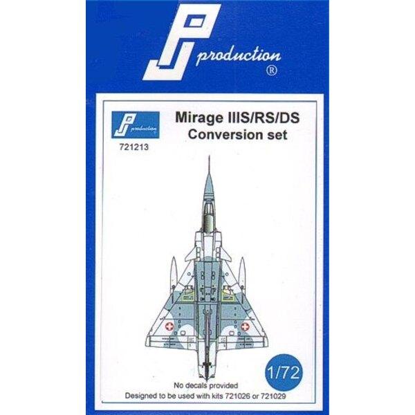 Kit de conversión Dassault Mirage IIIS / RS / DS . Este kit de conversión está diseñado para ser utilizado con el kit de Mirage