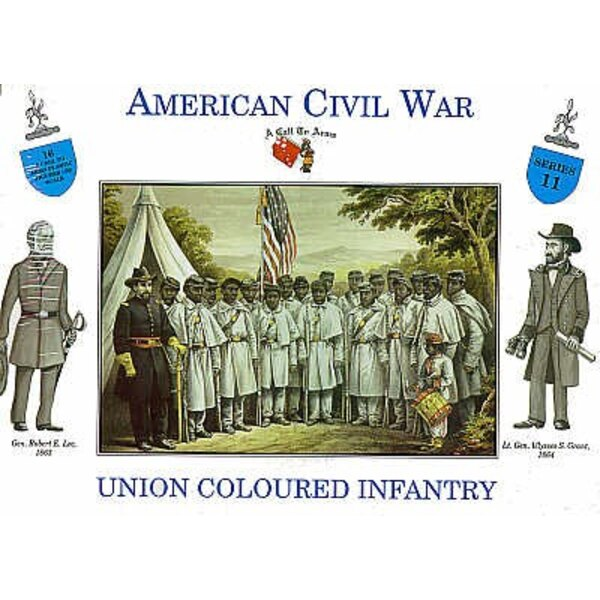 Coloured Union Infantry 16 figures